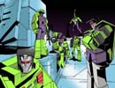 Constructicons hanging out on Cybertron